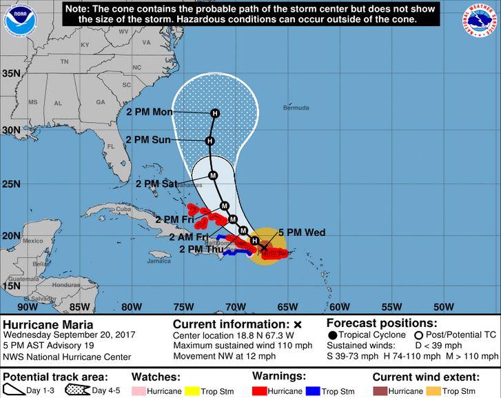 The Hurricane Maria 5-day